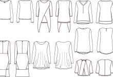 Technical drawings for women's clothing brand
